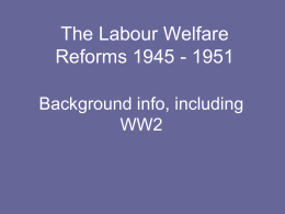 The Labour Government 1945