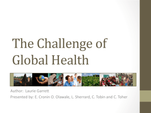 Laurie Garrett (The Challenge of Global Health)
