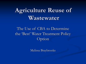 Agriculture Reuse of Wastewater
