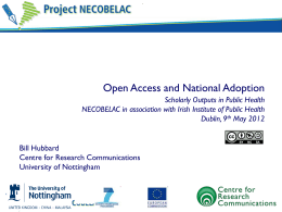 Open Access and National Adoption