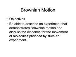 Brownian Motion - science