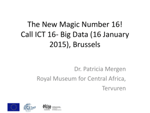 Call Big Data (16 January 2015), Brussels