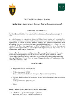 The 12th Military Power Seminar