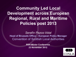 Community Led Local Development across European Regional
