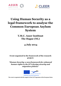 Using Human Security as a legal framework to analyse the Common