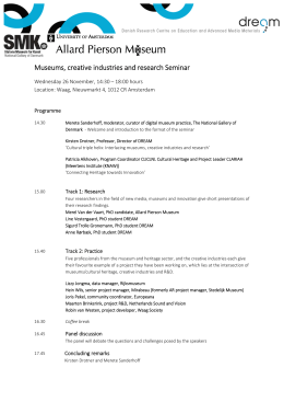 Museums, creative industries and research Seminar