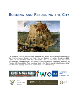 BUILDING AND REBUILDING THE CITY
