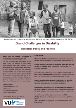 Grand Challenges in Disability