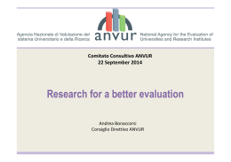 Research for a better evaluation