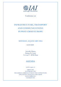 infrastructure, transport and communications in post-crisis