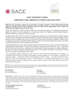Press release - Agreement with Banca Ubae