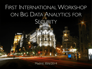 FIRST INTERNATIONAL WORKSHOP ON BIG DATA
