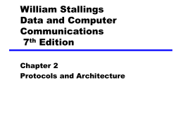 Chapter 2 Protocols and Architecture