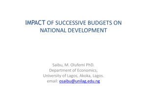 impact of successful budgets on national development