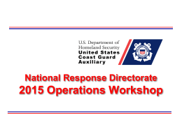 2015 Operations Workshop