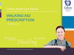 PPT Clinical Resource - Walking aid prescription