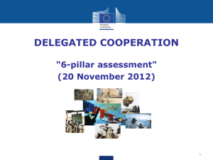 Delegated Cooperation - 6 pillar assessment