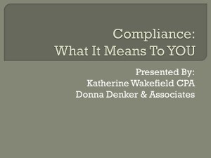 Compliance: What It Means To YOU.