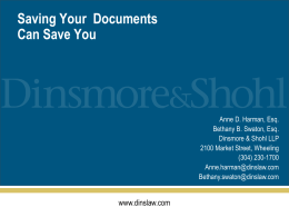 Saving Your Documents Can Save You