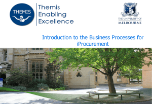 iProcurement - University of Melbourne