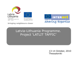 Presentation about the Project - latlit