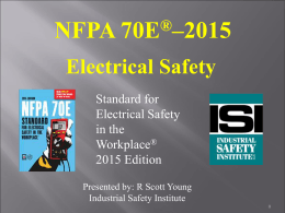 "PowerPoint ""NFPA 70E - 2015 Electrical Safety"