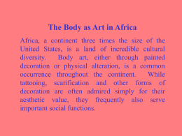 The Body as Art in Africa