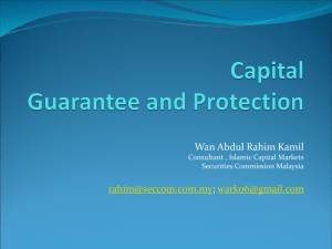 Capital Guarantee and Protection