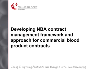 NBA - Developing NBA contract management framework and