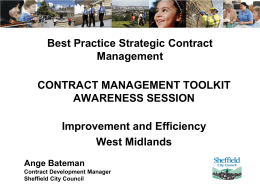 - Improvement and Efficiency West Midlands