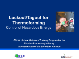 Lockout/Tagout for Thermoforming
