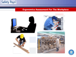 Ergonomics Assessment for the Workplace Training