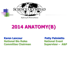ANATOMY_2014 - Science Olympiad