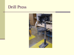Drill Press PPT