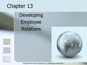 Employee Relations Chapter 13