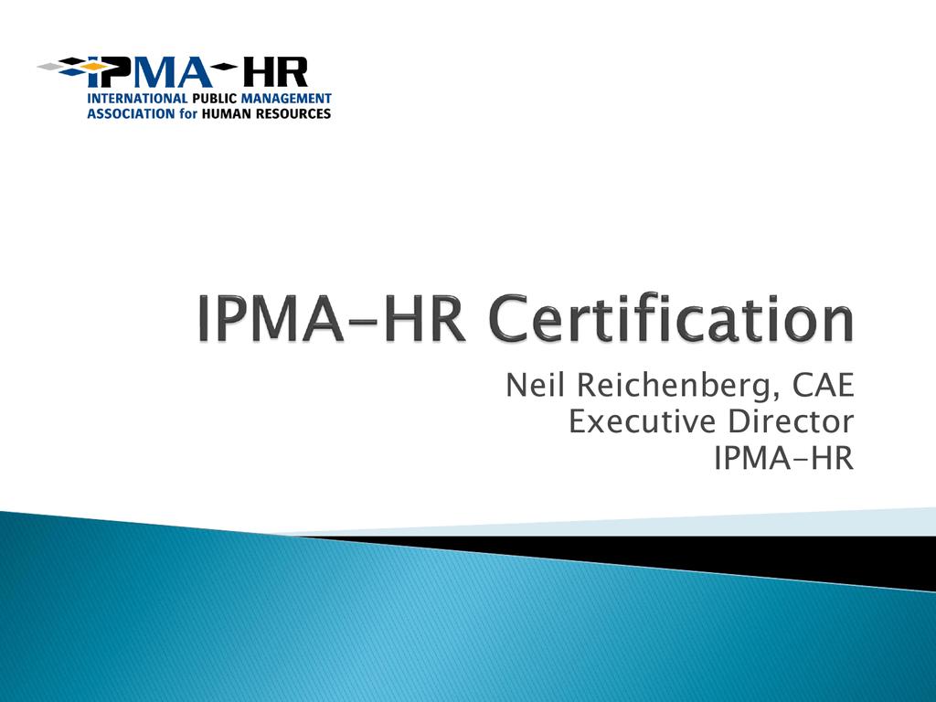 Ipma Hr Certification