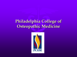 Philadelphia College of Osteopathic Medicine