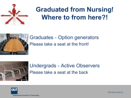 Graduated from Nursing! - QUT Careers and Employment