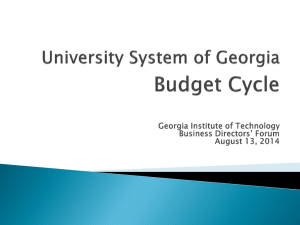Budget Cycle - Georgia Institute of Technology