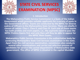 Career in State Civil Services Examination (MPSC)