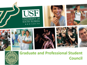 GPSC Overview 2012-2013 - Graduate and Professional Student