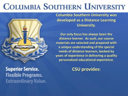 Columbia Southern Un.. - Wisconsin Service Member Support Division