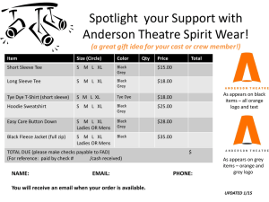 Spotlight your Support with Anderson Theatre Spirit Wear! (a great
