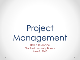Project Management - SLA Engineering Division
