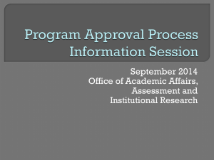 Program Approval Process Presentation