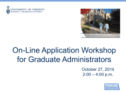 presentation - School of Graduate Studies