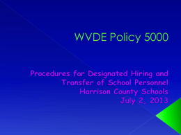 WVDE Policy 5000 - Harrison County Schools