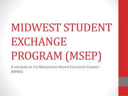 Midwest Student Exchange Program - Indiana University