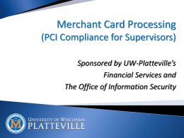 Credit Card Supervisor Training Powerpoint (8/2014)