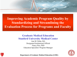 Chief Residents Quality Improvement Project 2011